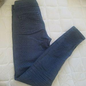 GAP Skinny Snake-Print Jeans
